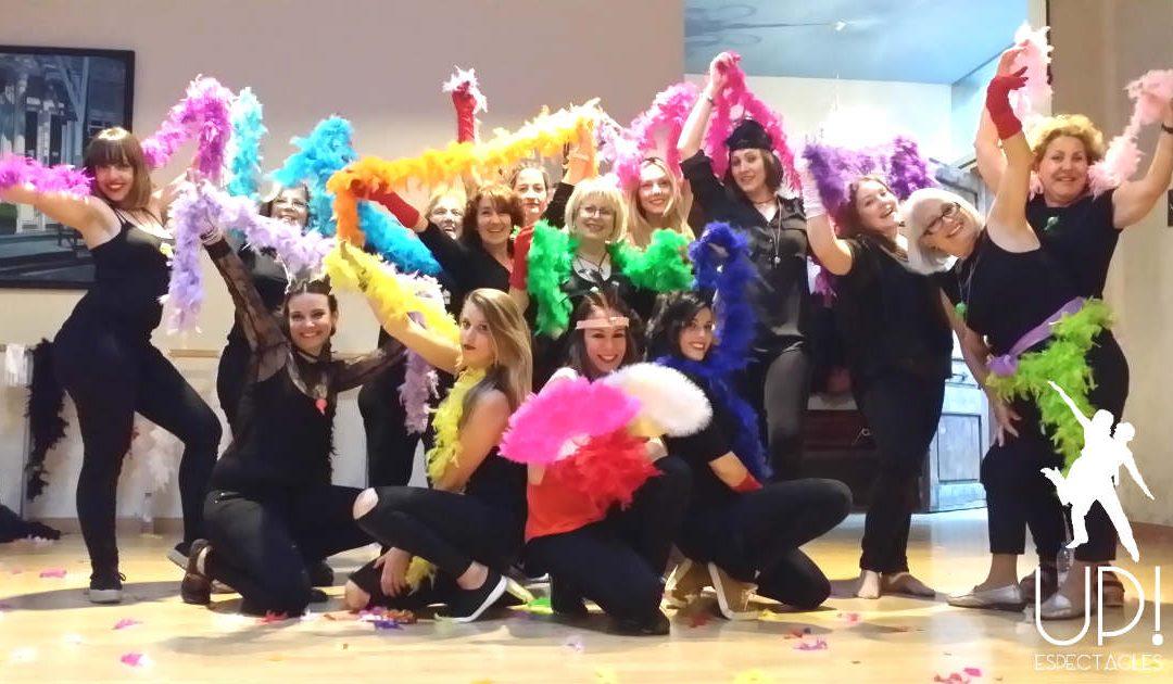 Un taller de baile Moulin rouge para celebrar que Miriam se casa