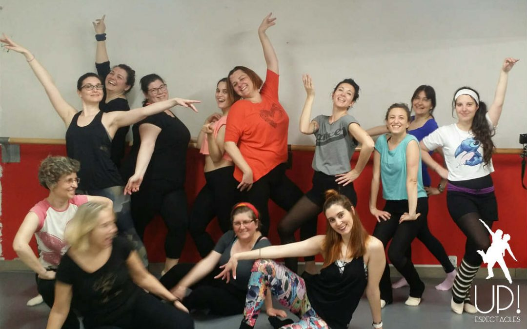 Una clase de ballet Fit y una coreo Disco en el workshop de Abril