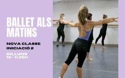 Nuevas clases de ballet por las mañanas